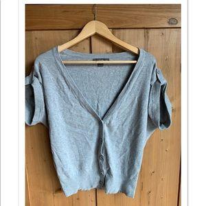 Short sleeve Gray cardigan size medium